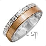 Snubní prsteny LSP 1925 kombinované zlato