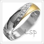 Snubní prsteny LSP 1927 kombinované zlato