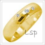 Snubní prsteny LSP 1928 žluté zlato