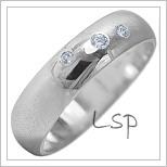 Snubní prsteny LSP 1928b bílé zlato