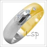 Snubní prsteny LSP 1928k kombinované zlato