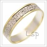 Snubní prsteny LSP 1929 kombinované zlato
