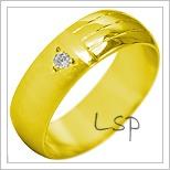 Snubní prsteny LSP 1931 žluté zlato