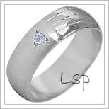Snubní prsteny LSP 1931b bílé zlato