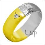 Snubní prsteny LSP 1931k kombinované zlato