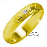 Snubní prsteny LSP 1933 žluté zlato