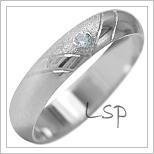 Snubní prsteny LSP 1933b bílé zlato