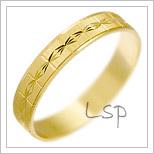 Snubní prsteny LSP 1934 žluté zlato