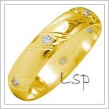 Snubní prsteny LSP 1936 žluté zlato
