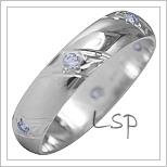 Snubní prsteny LSP 1936b bílé zlato
