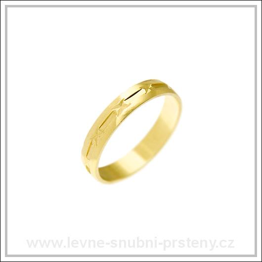 Snubní prsteny LSP 1937 žluté zlato