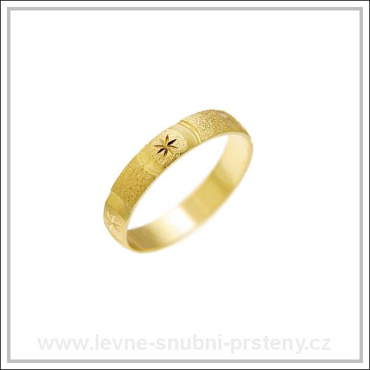 Snubní prsteny LSP 1938 žluté zlato