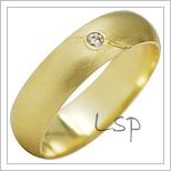 Snubní prsteny LSP 1939 žluté zlato