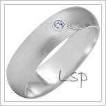 Snubní prsteny LSP 1939b bílé zlato