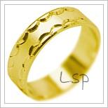 Snubní prsteny LSP 1940 žluté zlato