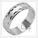 Snubní prsteny LSP 1940b bílé zlato