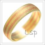Snubní prsteny LSP 1942 kombinované zlato