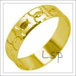 Snubní prsteny LSP 1943 žluté zlato