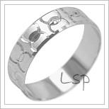Snubní prsteny LSP 1943b bílé zlato
