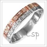 Snubní prsteny LSP 1944 kombinované zlato