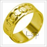 Snubní prsteny LSP 1945 žluté zlato