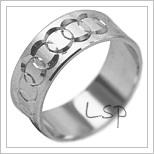 Snubní prsteny LSP 1945b bílé zlato