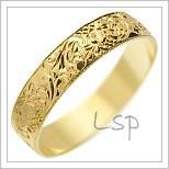 Snubní prsteny LSP 1946 žluté zlato