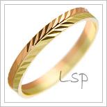 Snubní prsteny LSP 1948 kombinované zlato
