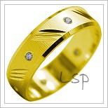 Snubní prsteny LSP 1949 žluté zlato