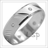 Snubní prsteny LSP 1949b bílé zlato
