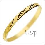Snubní prsteny LSP 1950 žluté zlato