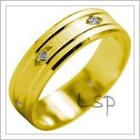 Snubní prsteny LSP 1951 žluté zlato