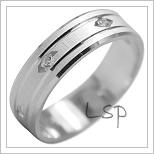 Snubní prsteny LSP 1951b bílé zlato