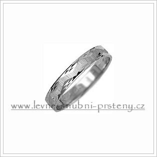 Snubní prsteny LSP 1953b bílé zlato