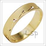 Snubní prsteny LSP 1954 žluté zlato