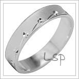 Snubní prsteny LSP 1954b bílé zlato