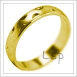 Snubní prsteny LSP 1957 žluté zlato