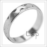 Snubní prsteny LSP 1957b bílé zlato