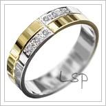 Snubní prsteny LSP 1958 kombinované zlato