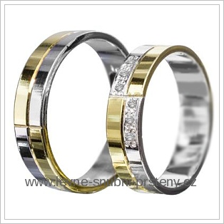 Snubní prsteny LSP 1958 žluté zlato