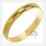 Snubní prsteny LSP 1960 žluté zlato