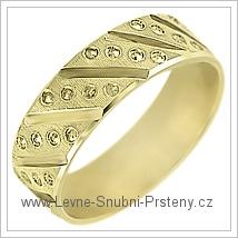 Snubní prsteny LSP 1963 žluté zlato