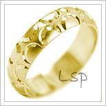 Snubní prsteny LSP 1964 žluté zlato