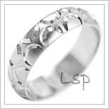 Snubní prsteny LSP 1964b bílé zlato