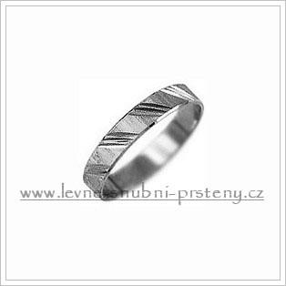 Snubní prsteny LSP 1965b bílé zlato