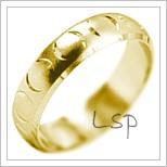 Snubní prsteny LSP 1968 žluté zlato
