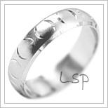 Snubní prsteny LSP 1968b bílé zlato