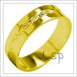 Snubní prsteny LSP 1970 žluté zlato