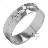 Snubní prsteny LSP 1970b bílé zlato