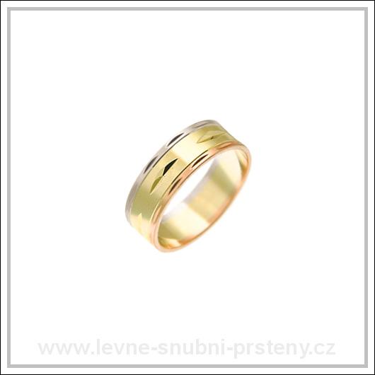 Snubní prsteny LSP 1971 kombinované zlato